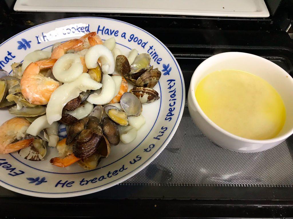 魚介と煮汁