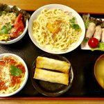 パスタ2種類の夕飯