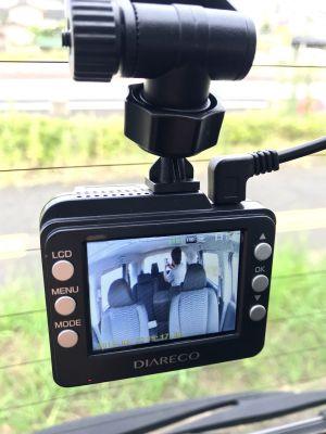 前後同時撮影出来るドラレコで車内撮影出来るようにしてみた